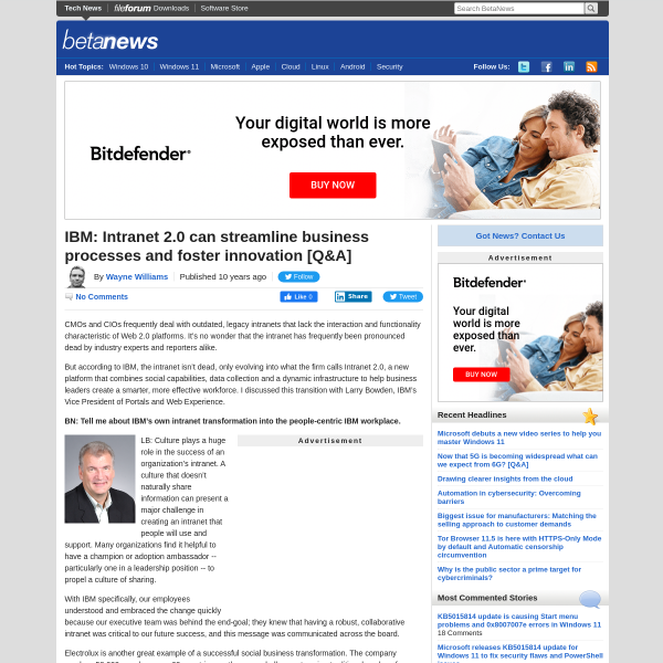 IBM: Intranet 2.0 can streamline business processes and foster innovation [Q&A]