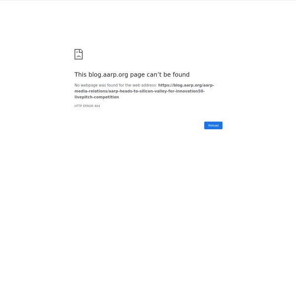 AARP Blog - AARP Heads to Silicon Valley for Innovation@50+ LivePitch Competition