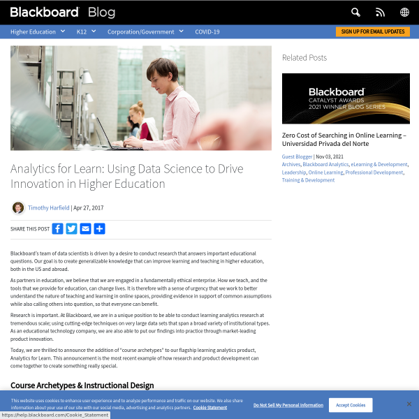 Analytics for Learn: Using data science to drive innovation in higher education - Blackboard Blog