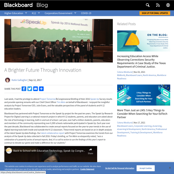A brighter future through innovation - Blackboard Blog