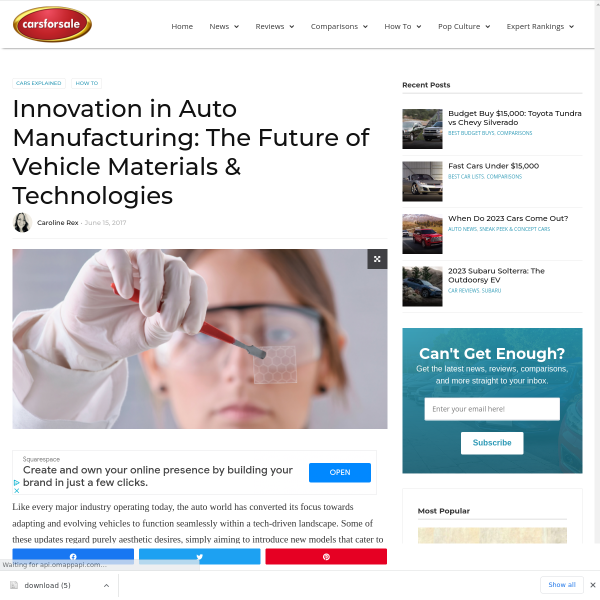 Innovation in Auto Manufacturing: The Future of Vehicle Materials & Technologies - Carsforsale.com Blog