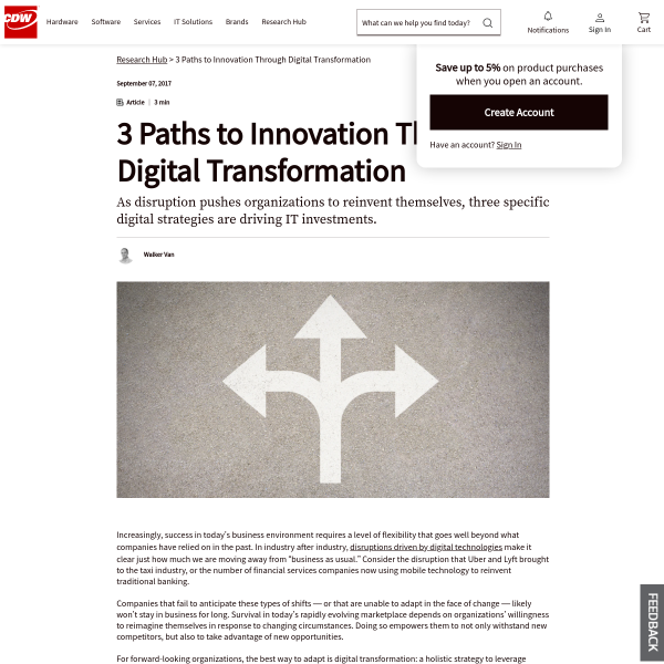 3 Paths to Innovation Through Digital Transformation - Solutions Blog