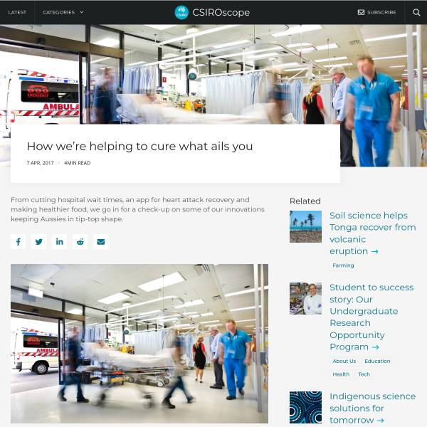 Health innovations: How we're helping cure what ails you