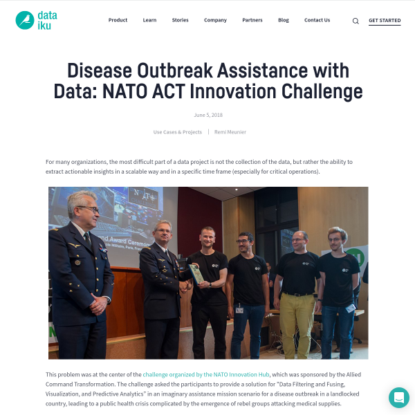 Disease Outbreak Assistance with Data: NATO ACT Innovation Challenge
