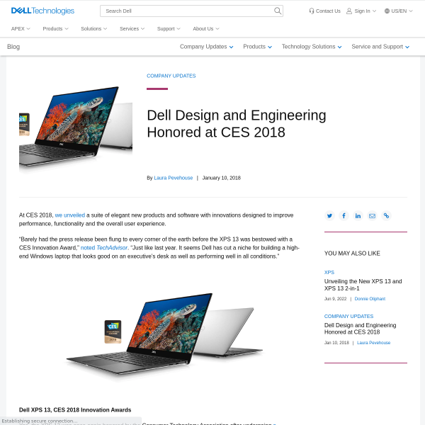 Dell Design and Engineering Honored with CES 2018 Innovation Awards