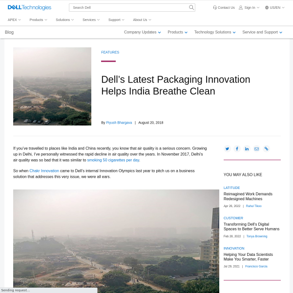Dell's Latest Packaging Innovation Helps India Breathe Clean - Direct2Dell