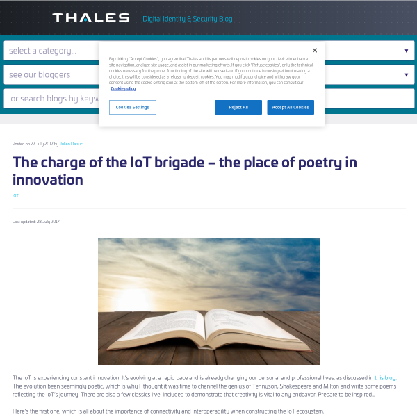 The charge of the IoT brigade – the place of poetry in innovation - Gemalto blog