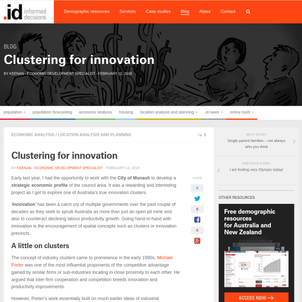 Clustering for innovation - .id blog