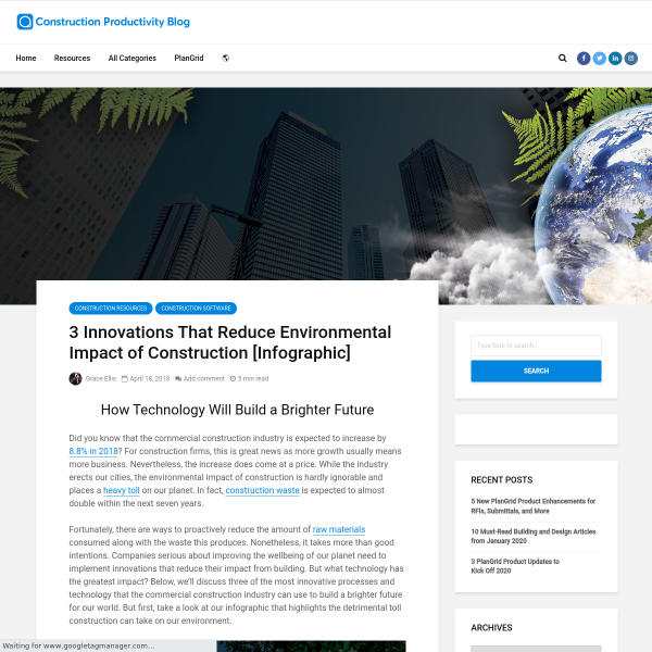 3 Innovations That Reduce Environmental Impact of Construction [Infographic] - PlanGrid Construction Productivity Blog