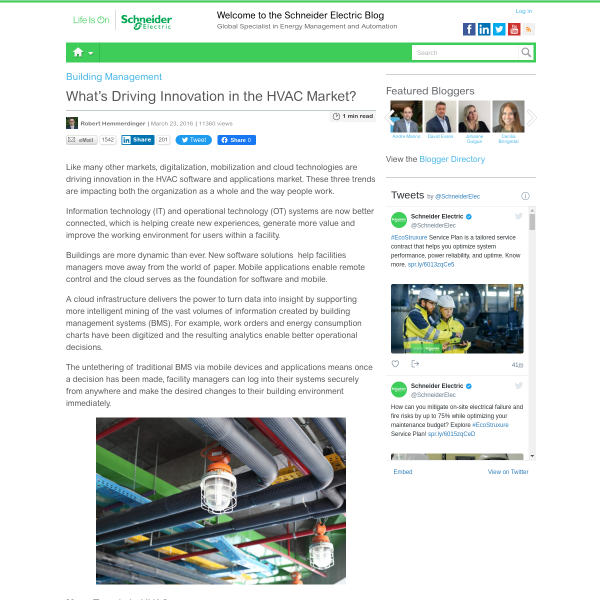 What's Driving Innovation in the HVAC Market? - Schneider Electric Blog