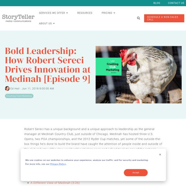 EP. 9 - Bold Leadership: How Robert Sereci Drives Innovation at Medinah
