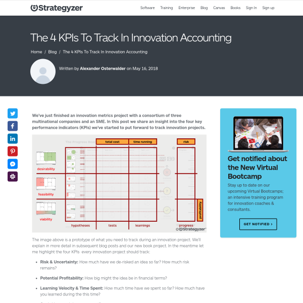 The 4 KPIs To Track In Innovation Accounting