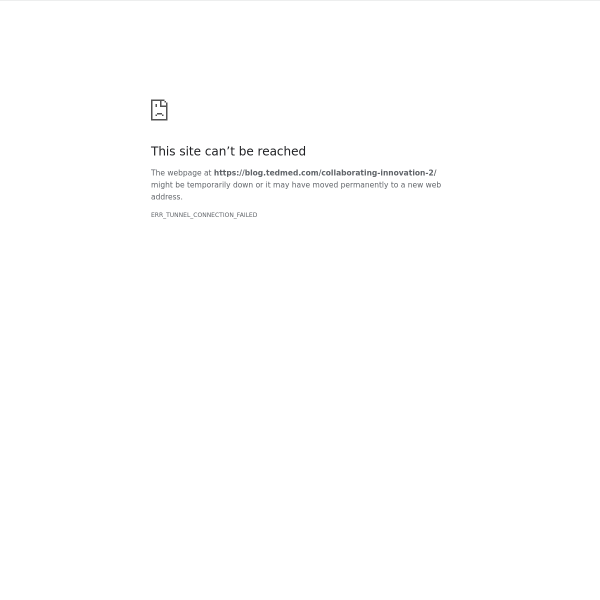 Collaborating for Innovation – TEDMED Blog