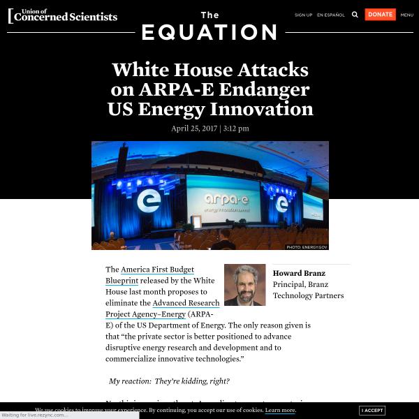 White House Attacks on ARPA-E Endanger US Energy Innovation
