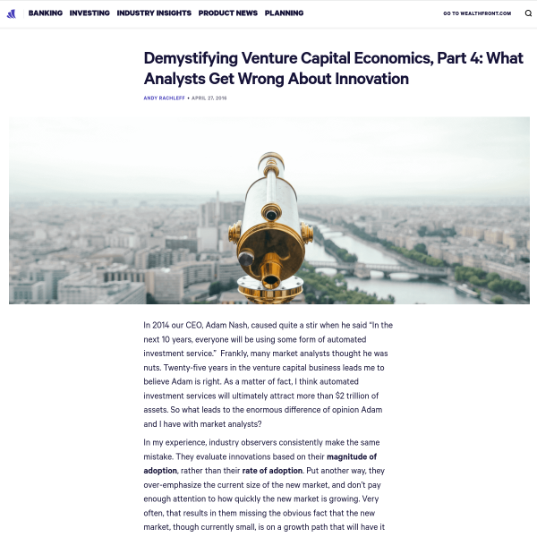 Demystifying Venture Capital Economics - Innovation