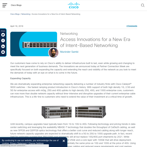 Access Innovations for a New Era of Intent-Based Networking