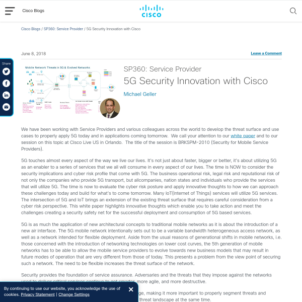 5G Security Innovation with Cisco