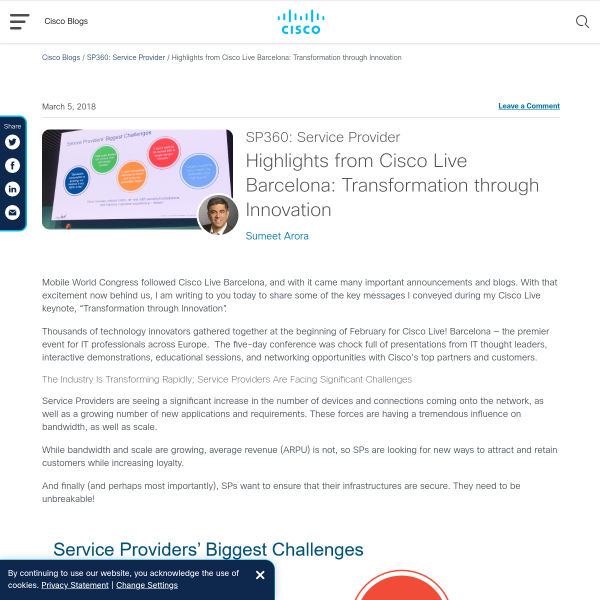 Highlights from Cisco Live Barcelona: Transformation through Innovation