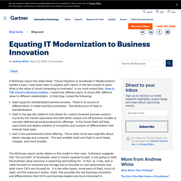 Equating IT Modernization to Business Innovation - Andrew White