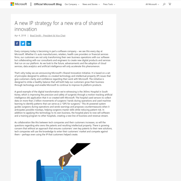 A new IP strategy for a new era of shared innovation - The Official Microsoft Blog