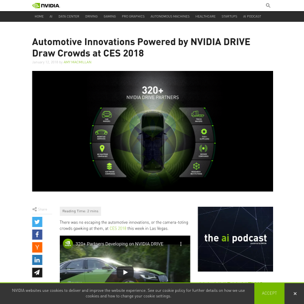 Automotive Innovations Powered by NVIDIA DRIVE Draw Crowds at CES 2018 - NVIDIA Blog