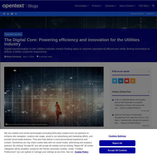The Digital Core: Powering efficiency and innovation for the Utilities industry