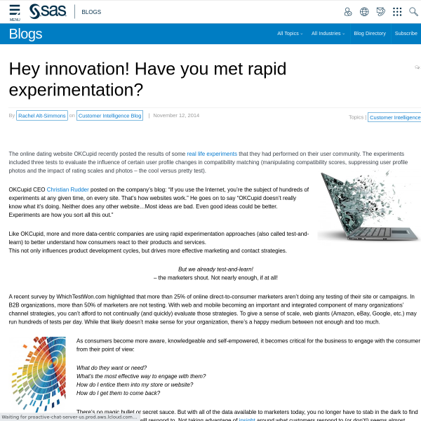 Hey innovation! Have you met rapid experimentation?