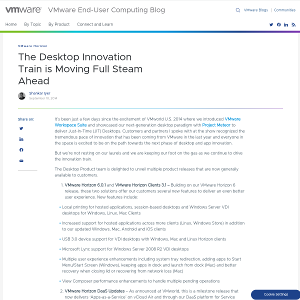The Desktop Innovation Train is Moving Full Steam Ahead - VMware End-User Computing Blog