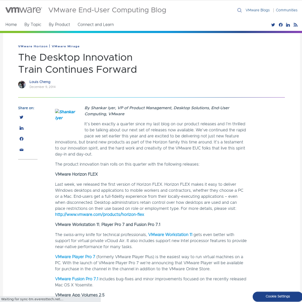 The Desktop Innovation Train Continues Forward - VMware End-User Computing Blog