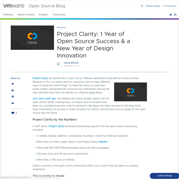Project Clarity: Open Source & a New Year of Design Innovation