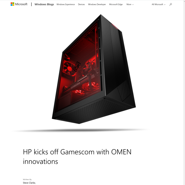 HP kicks off Gamescom with OMEN innovations - Windows Experience Blog