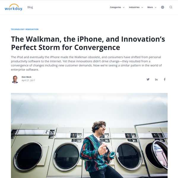 The Walkman, the iPhone, and Innovation's Perfect Storm for Convergence - Workday Blog