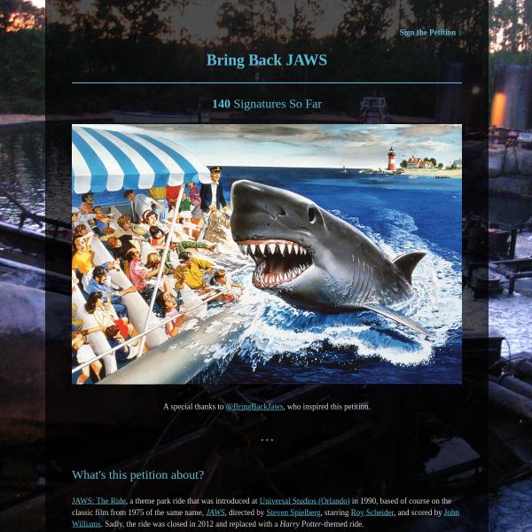 Bring Back JAWS