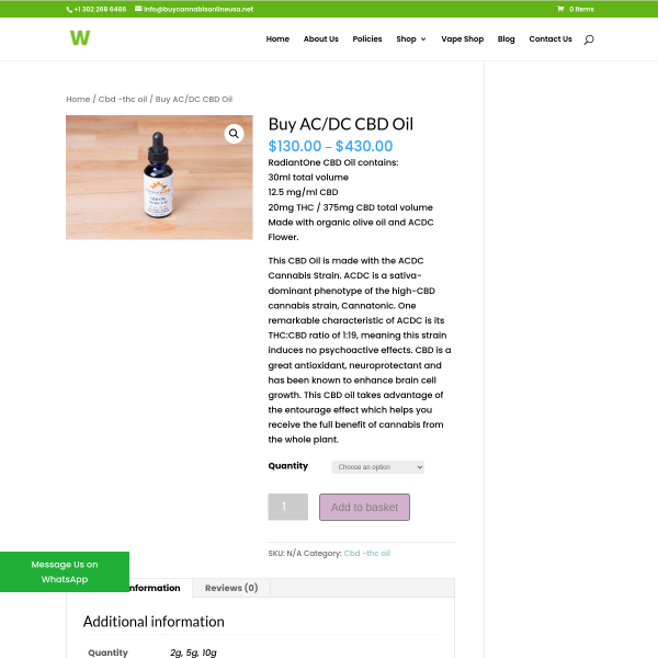 Read more about: acdc cbd oil for sale