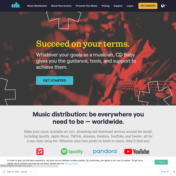 CD Baby: Digital Music Distribution - Sell & Promote Your