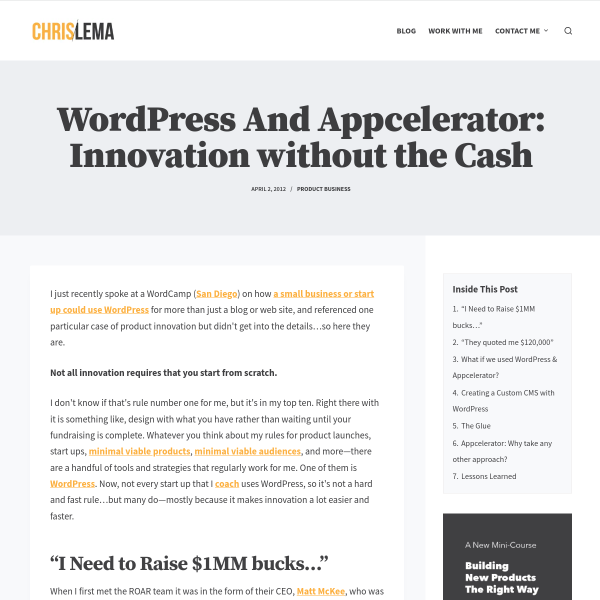 WordPress & Appcelerator - Innovation without the Cash