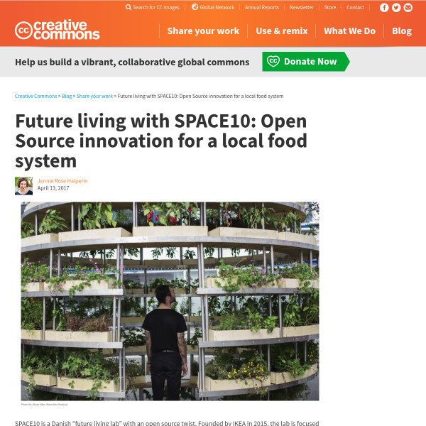 Future living with SPACE10: Open Source innovation for a local food system - Creative Commons