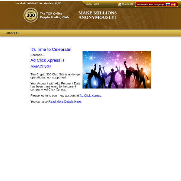 crypto300club.is screen