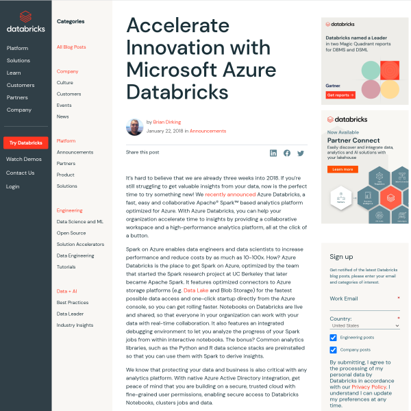 Accelerate Innovation with Microsoft Azure Databricks - The Databricks Blog