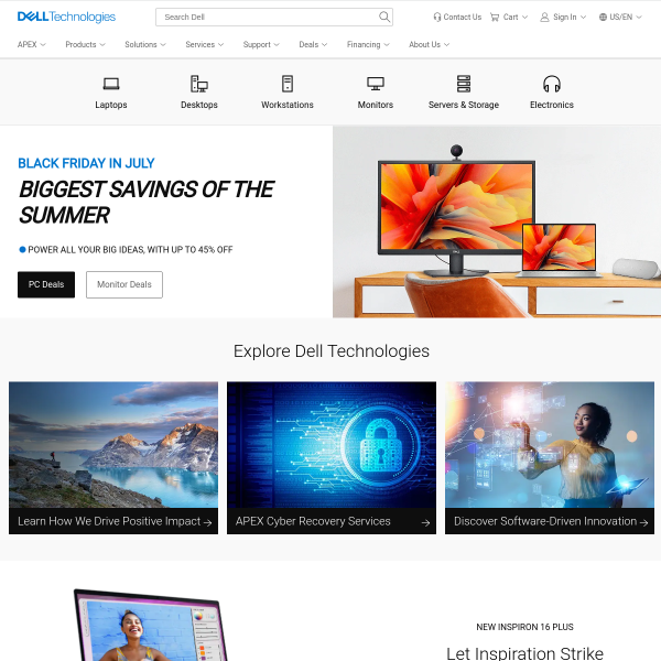 Dell United States Official Site | Dell United States screenshot