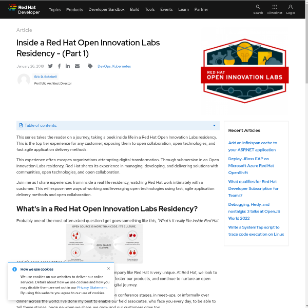 Inside a Red Hat Open Innovation Labs Residency - (Part 1) - RHD Blog