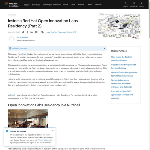 Inside a Red Hat Open Innovation Labs Residency (Part 2) - RHD Blog