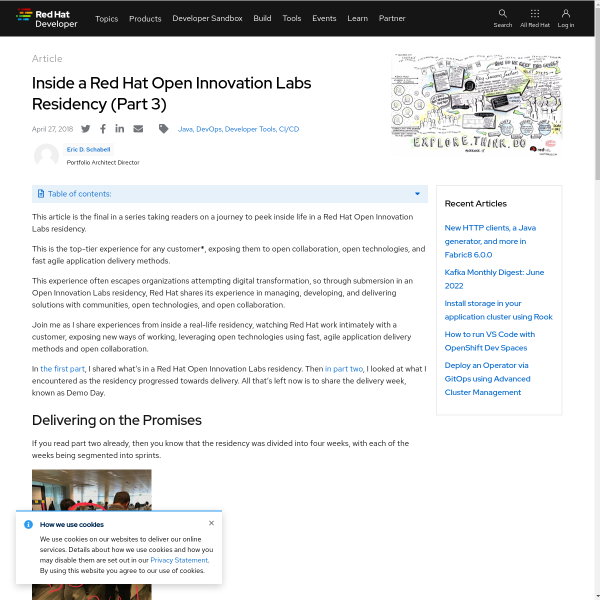 Inside a Red Hat Open Innovation Labs Residency (Part 3) - RHD Blog