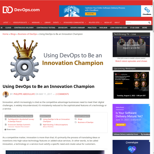 Using DevOps to Be an Innovation Champion - DevOps.com