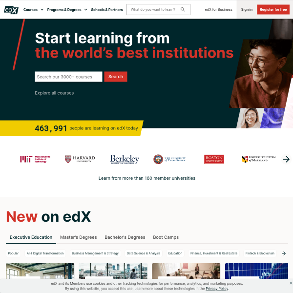 edX | Free Online Courses by Harvard, MIT, & more screenshot