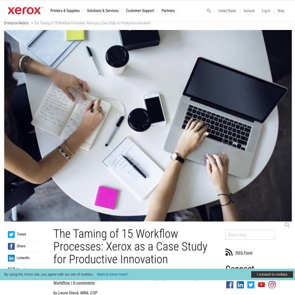 Taming 15 Workflow Processes: Xerox as Case Study for Innovation
