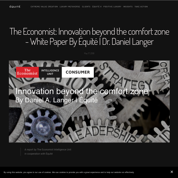 The Economist: Innovation beyond the comfort zone - White Paper By Équité - Dr. Daniel Langer