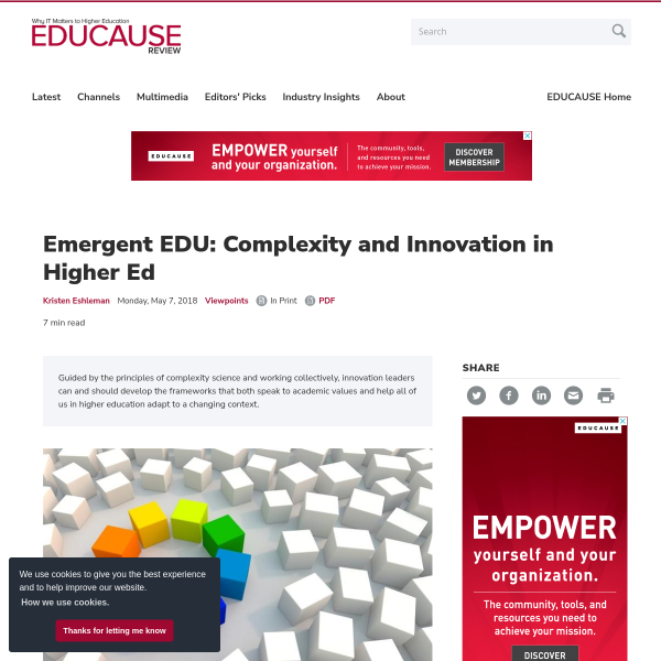 Emergent EDU: Complexity and Innovation in Higher Ed