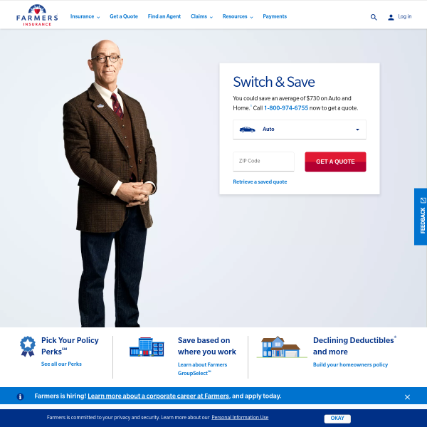 Insurance Quotes for Home, Auto, & Life : Farmers Insurance screenshot