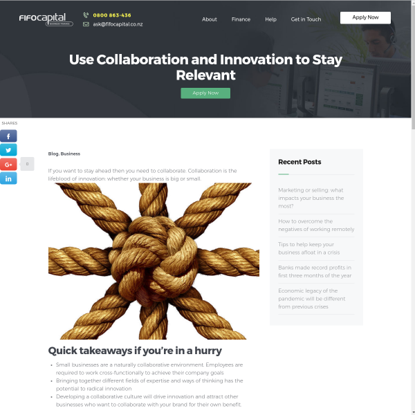 Use Collaboration and Innovation to Stay Relevant